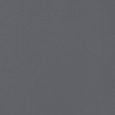 Текстурированный кардсток 30х30 American Crafts Textured Cardstock - Цвет Charcoal