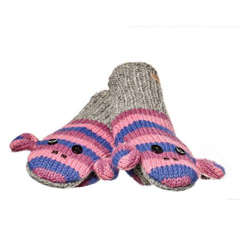 Картинка варежки Knitwits Stripe Sock Monkey  - 1
