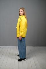Ветровка-анорак для девочки желтый