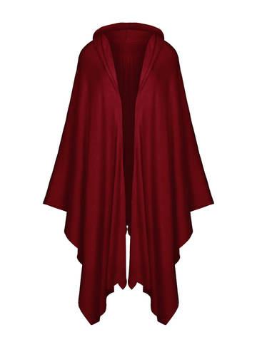 Женский шарф бордового цвета из 100% шерсти - фото 1