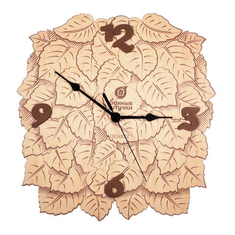 Часы «Листья»  23,5х24х0,3 см
