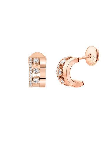 94093- Серебряные серьги Move  из серебра с розовой позолотой