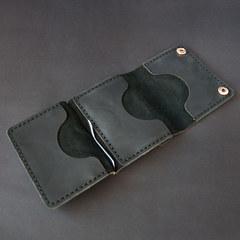 Smart з відділом для монет, гаманець з затиском, натуральна шкіра, ручна робота