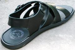 Мужские сандалии босоножки черные. Кожаные босоножки сандали летние. Босоножки мужские сандалии из натуральной кожи Broni Leather Black. 42 размер