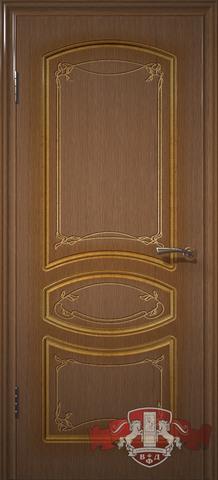 Дверь 13ДГ3 (орех, глухая шпонированная), фабрика Владимирская фабрика дверей