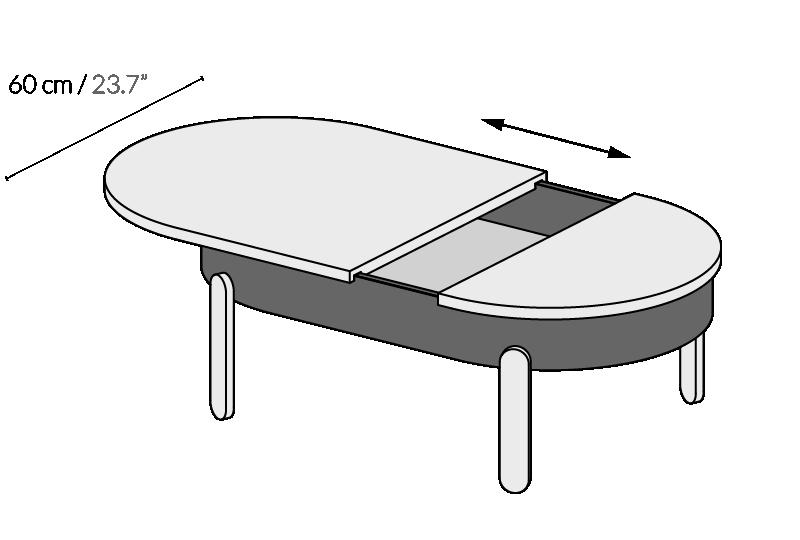 Журнальный стол BATEA L орех - вид 5