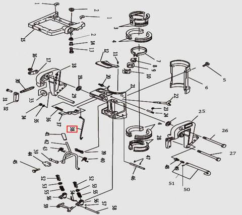 Рычаг для лодочного мотора T9.8 Sea-PRO (11-38)