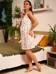 Мамаландия. Сорочка для беременных и кормящих с кнопками, бабочки на молочном