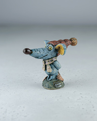 Скульптура из шамотной глины «Утепление мышонка», 13х10 см,Falco Ceramic