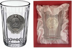 Граненый стакан с гербом СССР «Эпоха застоя», фото 1