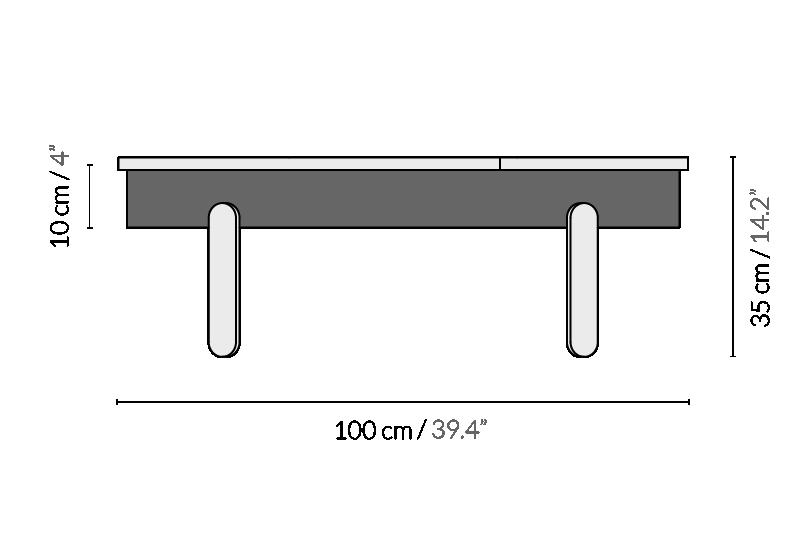 Журнальный стол BATEA L орех - вид 6
