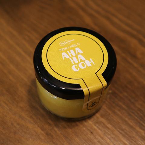 Крем-мед с ананасом