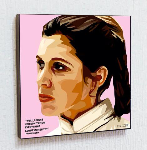 Картина постер Принцесса Лея в стиле ПОП-АРТ