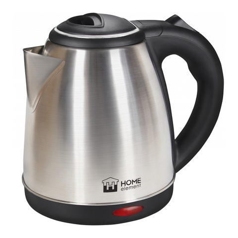 Чайник металлический HOME ELEMENT HE-KT165 черный/сталь