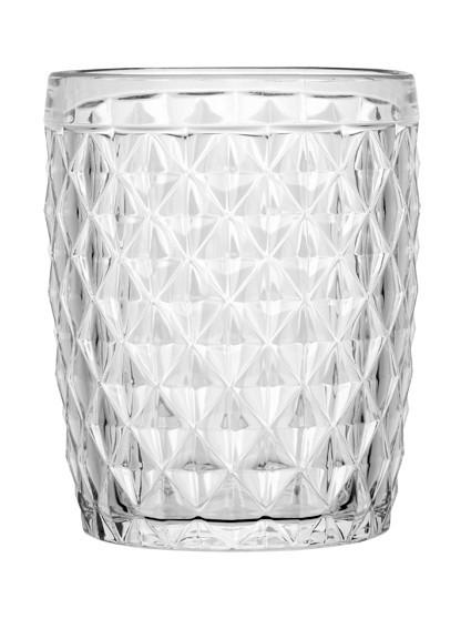 Water Glass Diamond Clear, 6 Pc