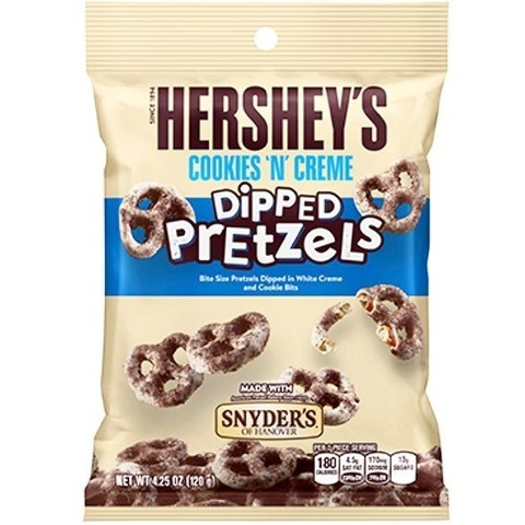 Hershey's Cookies and Creme Dipped pretzels 120 гр