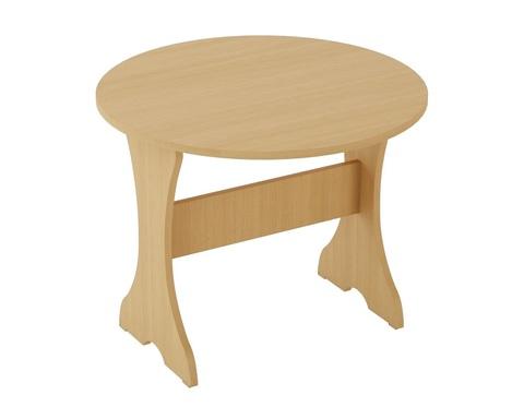 Стол обеденный КРУГЛЫЙ СТ-05 дуб белёный