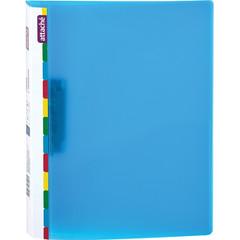 Папка с зажимом Attache Diagonal А4 0.6 мм синяя (до 150 листов)