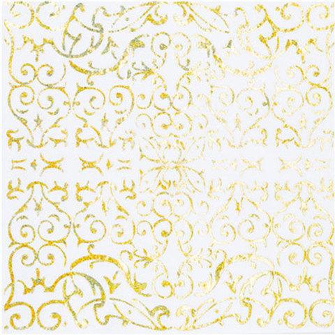 Салфетки голографические золотые, 6 шт
