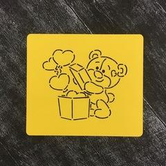 Мишка Тедди №6 с сердечками в коробке