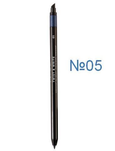 Водостойкий карандаш для глаз №05 (темный синий) NOUBA Twist&Write waterproof eye pencil