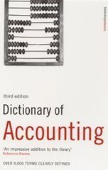 Dict of Accounting Pb 3Ed