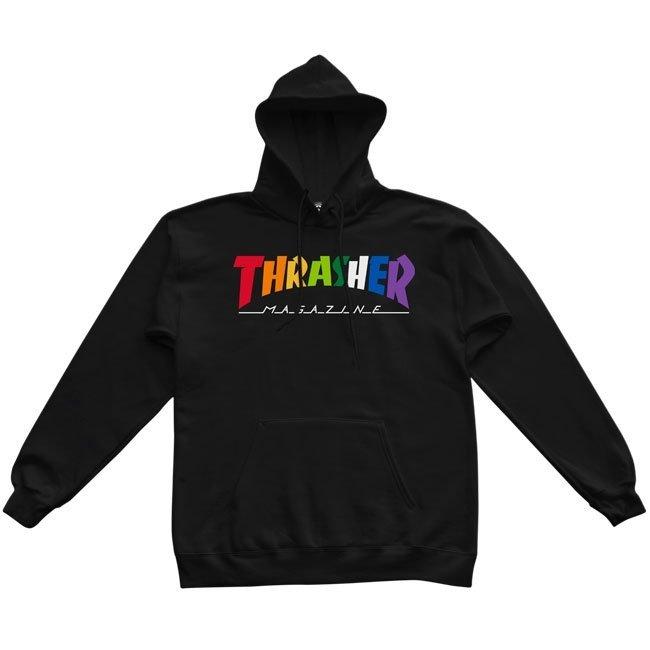 Толстовка (худи) THRASHER Rainbow Mag Hood (Black)