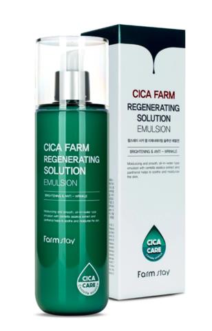 Эмульсия для лица восстанавливающая с центеллой азиатской, 200 мл. FarmStay Cica Farm Regenerating Solution Emulsion,200ml