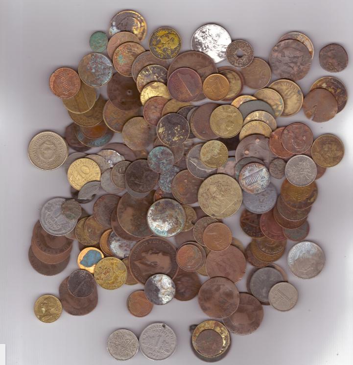 Монеты стран мира для чистки 350 грамм