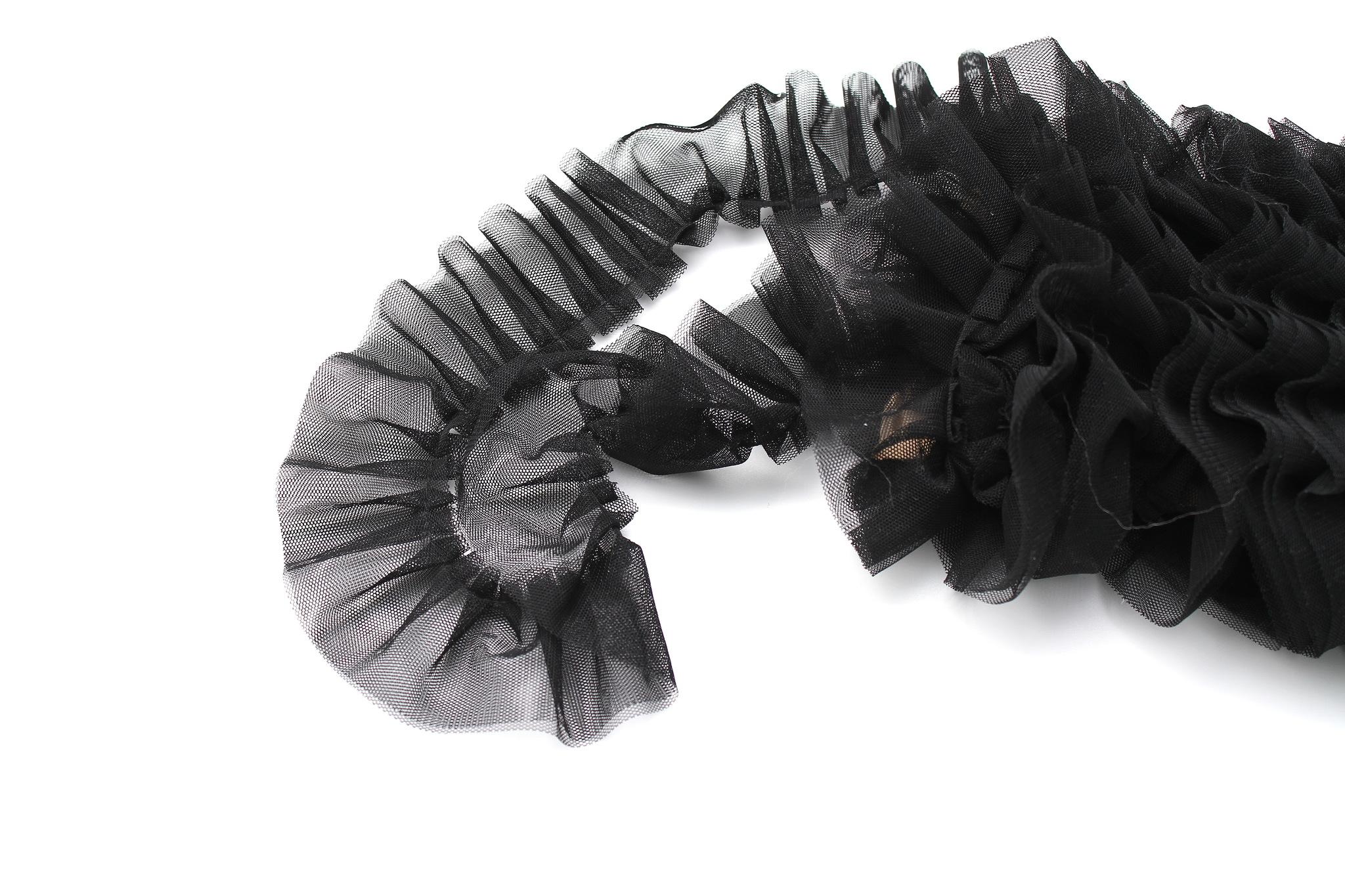 Кружево фатин черный