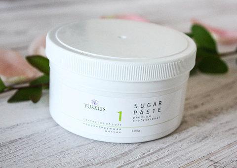Сахарная паста на фруктозе для шугаринга YUSKISS 600гр (Корректор мягкий)