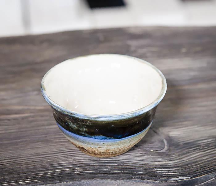 CUP101-1 Пиала для чая ручной работы из глины фото 02