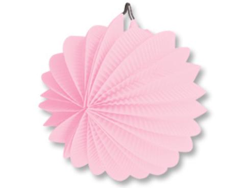 1412-0085 Фонарик бум круглый розовый 25см/G