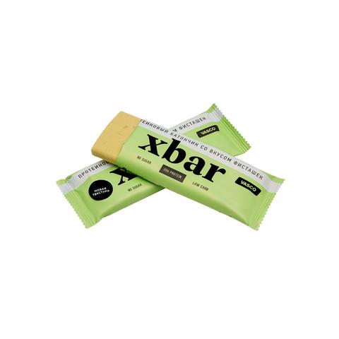 Батончики протеиновые Xbar со вкусом фисташки, без сахара 60 г