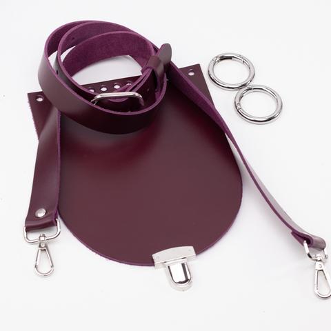 """Комплект для сумочки Орео  """"Вино"""" N12"""