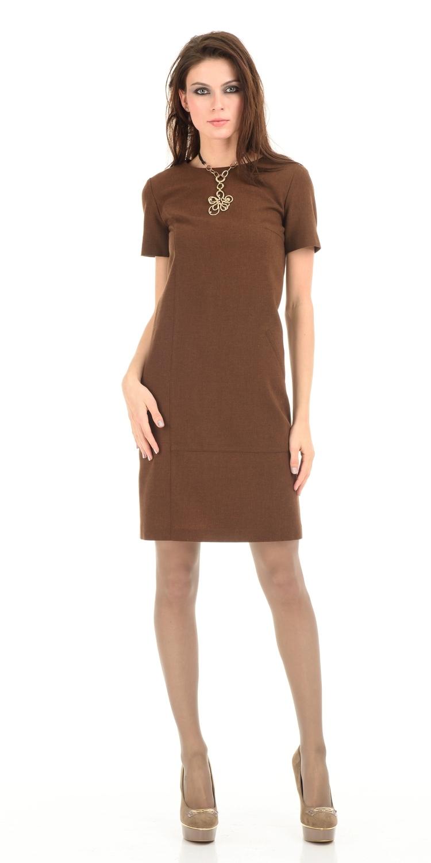 Платье З052-544 - Платье футляр на подкладке, приталенного силуэта с коротким рукавом и отрезными деталями на передней полочке. Изготовлено из качественной, костюмной ткани, которая прекрасно держит форму придавая стройность фигуре. Идеальный вариант как для офиса, так и на каждый день. Легко сочетается с различными аксессуарами.