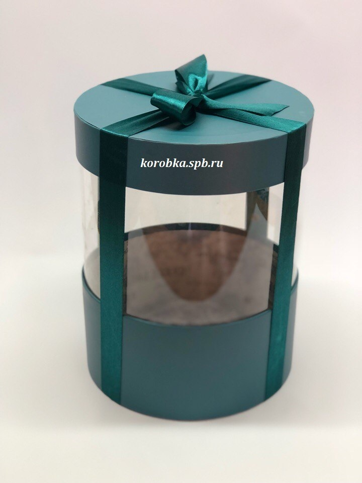 Коробка аквариум 20 см Цвет : Темно зеленый  . Розница 400 рублей .