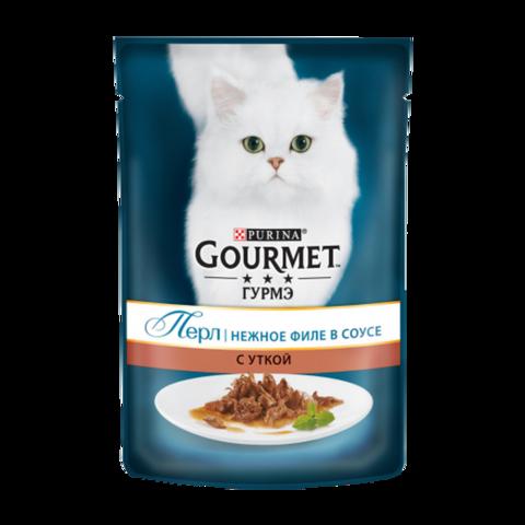 Gourmet Perle Консервы для кошек Нежное филе с Уткой в соусе (Пауч)