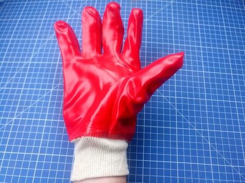 Перчатки облитые ПВХ (полностью) на х/б основе, МБС,