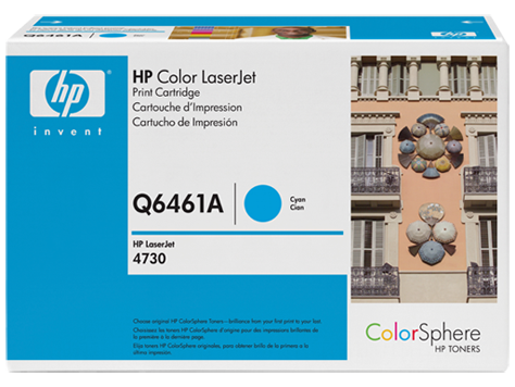 Картридж лазерный цветной original 644A Q6461A голубой (cyan), до 12000 стр.