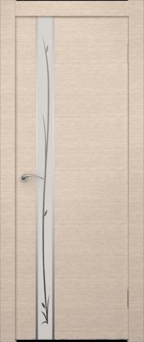 Дверь Маэстро (зеркало с рисунком) (беленый дуб, зеркало экошпон), фабрика Zadoor