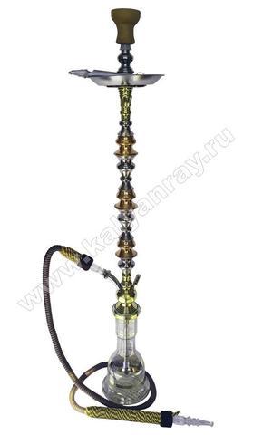 Кальян Tall Trimetall со шлангом с плетеной ручкой