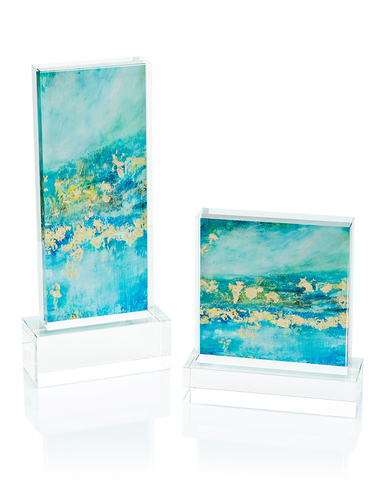 Set of Two Blue Jazz