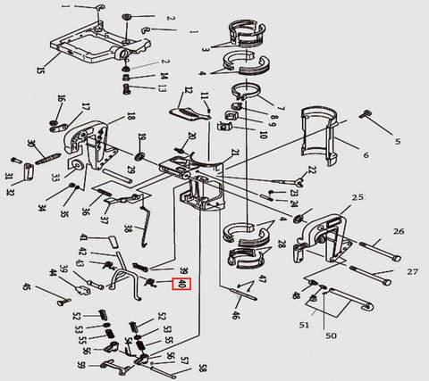 Пружина рамки наклона для лодочного мотора T9.8 Sea-PRO (11-40)