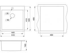 Мойка Granula 5102 - схема