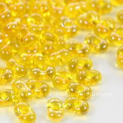 86010 Бисер Preciosa Фарфаль (Farfalle) 6,5х3,2 мм прозрачный блестящий желтый