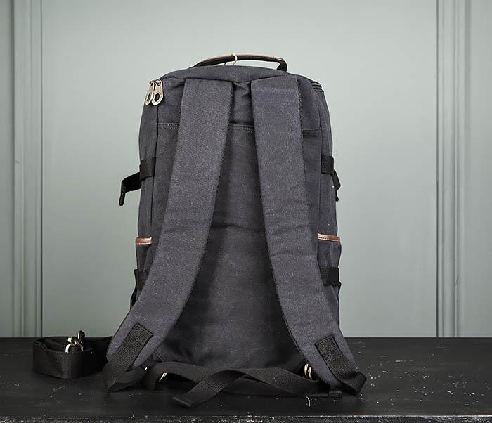 BAG368-1 Городская тканевая сумка рюкзак с ремнем на плечо фото 06