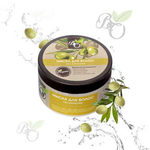 Натуральная маска для волос «Увлажнение» для сухих и ломких волос, Bliss organic 250 мл