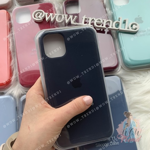 iPhone 11 Pro Max Silicone Case Full /midnight  blue/