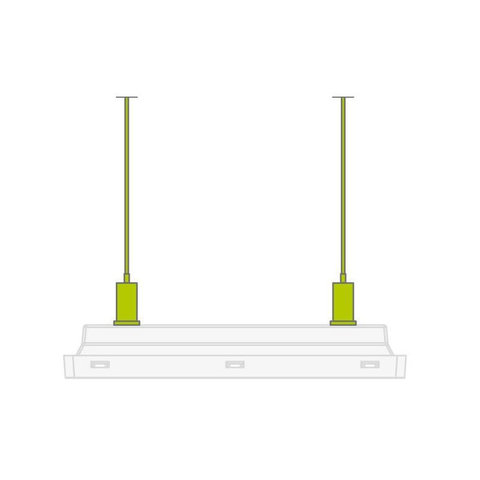 Комплект для подвесного монтажа аварийного светильника Vella LED eco